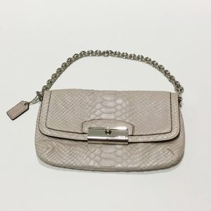 Coach Snake Skin Dusty Mauve Purse/Clutch
